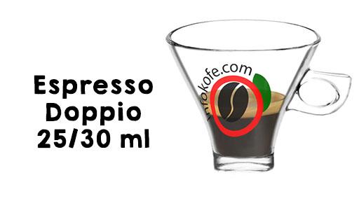Medidas de un espresso doppio