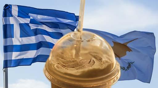 Grecia y Chipre, origen de Frappé, Chipre y Grecia
