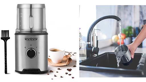 Molinillo de café eléctrico de Cuchillas Desmontable