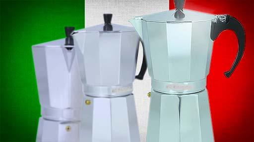 cafetera italiana de aluminio, cafetera moka de aluminio