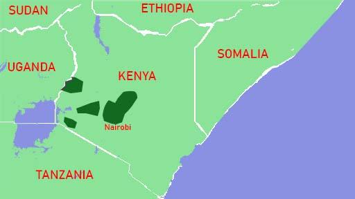 Zonas de Cultivo de Café en Kenia, Zonas de Cultivo de Café en Kenya,